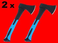 2 x Holz Axt Holzbeil 600 Gr. Forst Beil Holzfäller Handaxt Fiberglas Kurz XT040