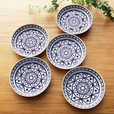 DISNEY Mickey Motif Pasta Plate Curry Dish x 5 Bowl Tableware Gift Japan E6806