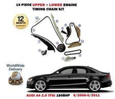 FOR AUDI A4 2.0 TFSI CFKA CDNB 180BHP 2008-2011 UPPER + LOWER TIMING CHAIN KIT