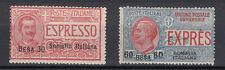 SERIE FRANCOBOLLI CON SOVRASTAMPA SOMALIA ITALIANA NUOVA 1923 ESPRESSI 2V  MNH**