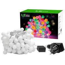 8 Modi 10M RGB 100 LEDs Kugel Lichterkette Innen/Außen Party Deko Beleuchtung