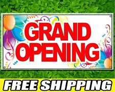 2ft x 5ft Grand Opening Sign Full Color Printed 13oz Vinyl Banner with Grommets