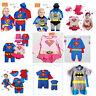 Bimbo Bambino Costme Festa Superman Costumi Regalo Tutina Taglia 3-24 Mesi