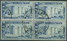 Italia 1952 - XXX Fiera di Milano - 60 lire in quartina usata/@