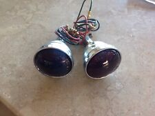 PAIR LUCAS TYPE 461 RUBY REAR LAMPS JOWETT BENTLEY ROLLS ROYCE