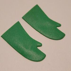 "Original 1970's Mego Removable Mask ROBIN Green Gloves 8"" Waffle Pattern! NICE!"