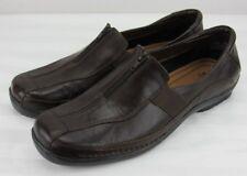 LifeStride Women's Darien Brown Leather Zip Casual Slip On Shoe Size 11 Medium