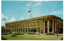 ROCHESTER NY US Post Office Vtg 1950's Cars Postcard