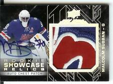 15/16 UD Black Rookie Showcase Relic Patch Autograph Malcolm Subban #05/10