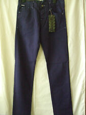 "NEW £54.99 BENCH ECLIPSE NAVY BLUE CHINOS 28 - 30"" WAIST 32LEG"