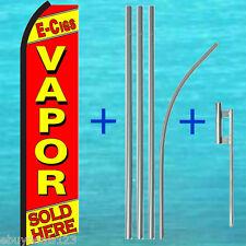 VAPOR E-CIGS SOLD HERE SWOOPER FLAG + POLE KIT Cigarette Flutter Feather Banner