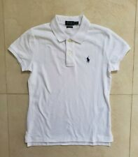 Women's Ralph Lauren Skinny Fit White Polo MSRP 100% Authentic BNWT $70