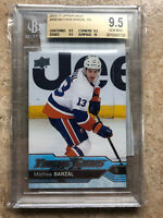 16-17 UD Upper Deck YG Young Guns Rookie RC #458 MATHEW BARZAL Graded BGS 9.5
