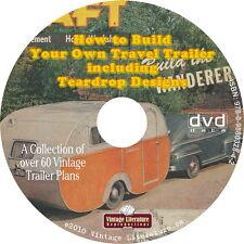 Vintage Caravan ~ Travel Trailers ~ Campers ~Teardrop {Plans and Books} on DVD