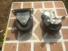 2 vintage industrial Large Wheel casters Steam Punk