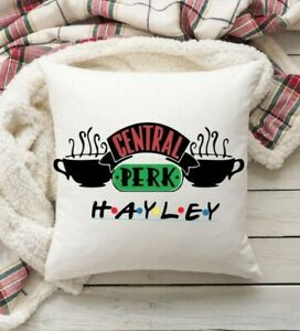 Friends TV Show Central Perk Cushion Cover - Personalised Name. Friends Gift