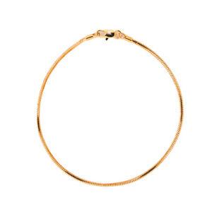 18K Gold Plated Snake Chain Anklet / Ankle Bracelet - LIFETIME WARRANTY