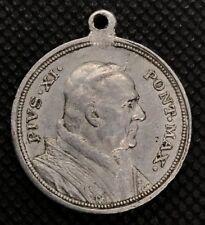 Pope Pius XI,Pivs XI Pont Max MEDAL c.1925 pendant,religious catholic Vatican