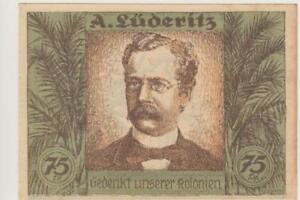 Colonie Africa A.Lüderitz 4.11.1921 75 Pfennig Errore Stampa Kassenfrisch