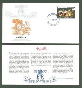 Cover W10 Anguilla 1977 FDC The Queen's Elizabeth II Silver Jubilee