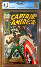 Captain America #117 CGC 4.5 White Pages 1ST APPEARANCE FALCON Key Silver Age