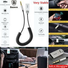 Baseus Handsfree USB Aux Bluetooth Adapter Dongle Cable For Car 3.5mm Jack