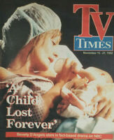 TV Times Nov 1992 Vtg Paper Magazine - Beverly D'Angelo Child Lost Forever - EX