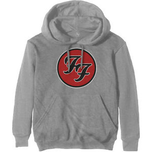 Foo Fighters 'FF Logo' (Grey) Pull Over Hoodie - NEW & OFFICIAL!