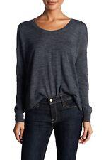 Madewell Women's Gray Northlight Pullover Sweater Merino Wool Scoop Neck Medium