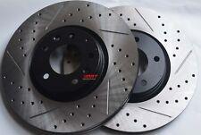 Fits Mazdaspeed 3 Drill Slot or Slot Brake Rotors Premium Grade Front Pair