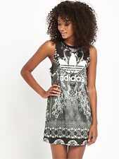 adidas Originals W Black Silver Mesh Tank Dress Size UK 6 10 12 14 584 UK 8 EU 34