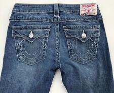 EUC RRP $349 Womens Stunning True Religion Brand 'BECKY' Blue Jeans 27