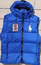 NWT-$245 Polo Ralph Lauren Alpine Ski Puffer Down Hooded Vest Size L