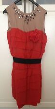 LANVIN for h&m robe dress soie rouge Nude EUR Taille 42 UK 16 US 12 * NOUVEAU *