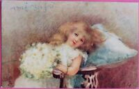 c1910 Raphel Tuck oilette Thinking of somebody Picture Postcard No.8651 PPC