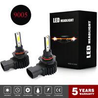 Pair 9005 HB3 LED Headlight Bulbs Kit 2200W 330000LM Hi/Low Beam 6000K White #K