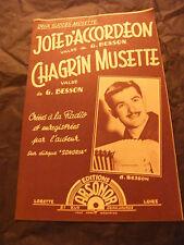 Partition Joie d'Accordéon G Besson Chagrin Musette 1959