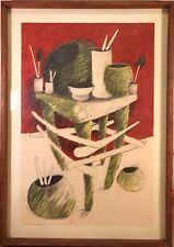 STANLEY C. WILSON * Altar Drawing #8 * Signed Original 1983 Framed 29 x 41