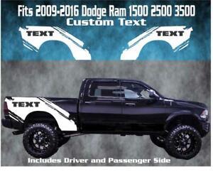 Custom Text Splash Vinyl Graphic Wrap Fits 2009-2016 Dodge Ram 1500 2500 3500