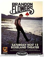 "BRANDON FLOWERS ""FLAMINGO ROAD TOUR"" 2010 PORTLAND CONCERT POSTER - The Killers"