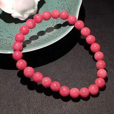 7mm Natural Pretty Striking Rhodonite Quartz Crystal Round Beads Bracelet AAA
