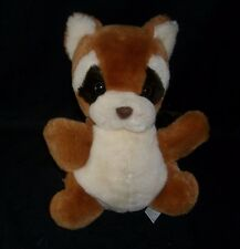 "11"" VINTAGE RUSS BERRIE ROLLO BROWN RACCOON HAND PUPPET STUFFED ANIMAL PLUSH TOY"