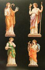 Victorian Die Cut Scrap Scraps Embossed Victorian Women European Roman Or Greek