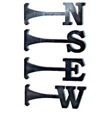 A Jeu de 4 Acier Nord Sud Est Ouest NOUVELLES Girouette Lettres 80mm