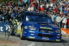 "Petter Solberg World Rally Champion 03 SUBARU IMPREZA HAND SIGNED PHOTO 12x8"" BF"
