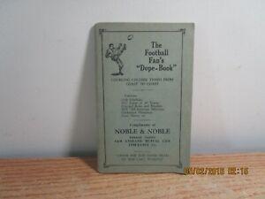 1928 FOOTBALL FANS DOPE BOOK COLLEGE TEAMS JUBILEE MANUFACTURING OMAHA NEBRASKA