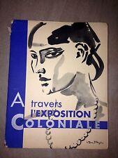 A travers l'exposition coloniale 1931 /couverture  illustré par Van Dongen