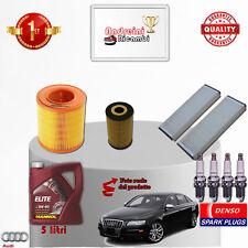 KIT TAGLIANDO FILTRI OLIO CANDELE AUDI A6 III 2.0 TFSI 125KW 170CV DAL 2006 ->