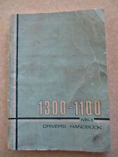 Original 1970 Austin Morris 1300 - 1100 MKII owner's manual - BMC publication