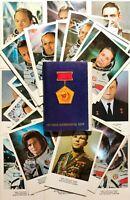 1978 Postcards 38 pcs Soviet Cosmonauts Gagarin Tereshkova Soviet Space